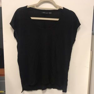 Mustard Seed Black Tee Shirt Size Small